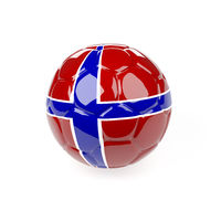 Soccer ball with the flag of Norway