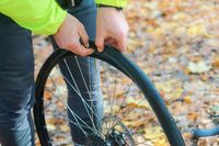 repair the puncture of the bike