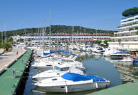 Harbor of Platja d`Aro,Costa Brava,Catalonia,mediterranean Sea,Spain