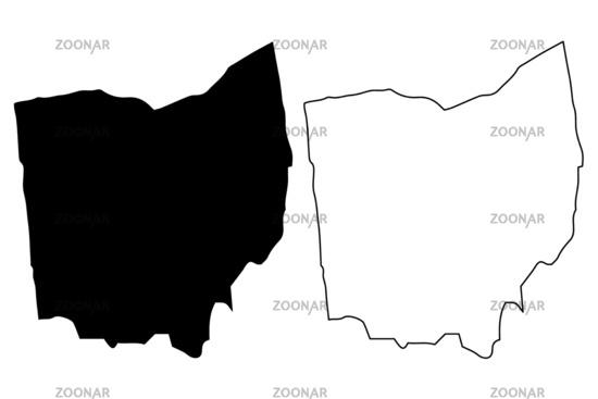 Ohio map vector Image
