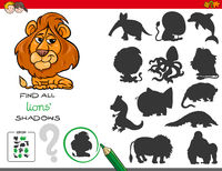 shadows game with lion characters