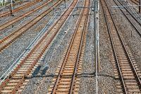 Railway Tracks in a City