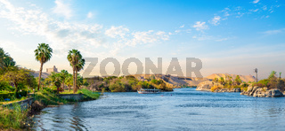 Panorama of Nile river