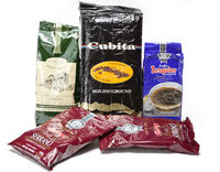 pack of different brands of coffee, produced by Cuba