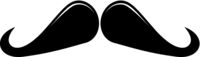 Ringmaster Moustache Icon Vector