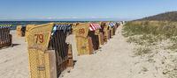 beach baskets on the beach of baltic sea