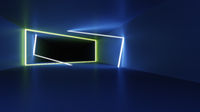 neon lights tunnel background
