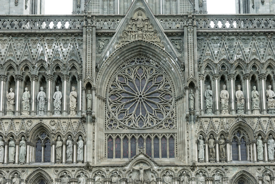 West Facade of Nidaros Cathedral in Trondheim