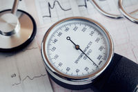 Medical devices: a stethoscope for auscultation of patients and apparatus for measuring of blood pressure.