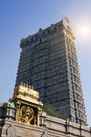Gopura in Mundeshwar. India. Kerala