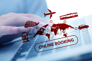 Concept of online booking for trip
