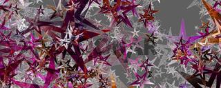 Abstract christmas star glass 3D panorama design illustration