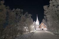 Wooden church, Karesuando, Lapland, Sweden