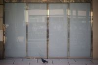 Modern sliding glass door
