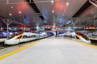 Fuxing high-speed trains Tianjin railway station in China