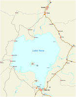 Map of the Ethiopian lake Tana ethiopia
