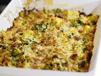 Baked Cauliflower and Broccoli with Grated Parmesan