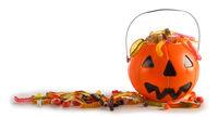 Halloween candies in Jack-O-Lantern bag