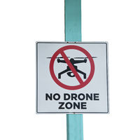 No Drone zone sign on white background