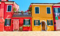 Houses in Burano, Venice