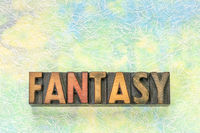 fantasy word in wood type
