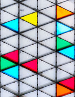 Modern and colorful glass roof