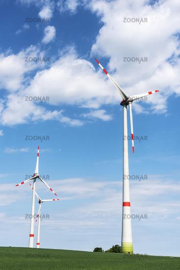 wind turbines, Buetzow, Mecklenburg-Western Pomerania, Germany, Europe