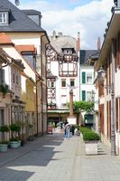 Narrow alley at the Waisenhaus place Bad Homburg