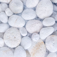 Abstract close-up background  of white textured pebble stones