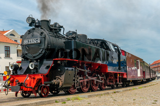 old steam railroad engine 'Molli' in Bad Doberan