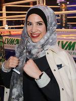 Boxerin Zeina Nassar zu Besuch des Boxevents Schwere Jungs am 02.03.2019 in Magdeburg