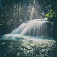 Waterfall at Phnom Kulen National Park. Cambodia