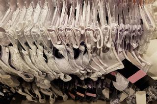 Woman shopping for bra