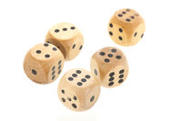 Dices isolated over white background