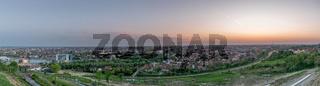 Pannorama of Oradea City at sunset from Mushroom Hill, Romania