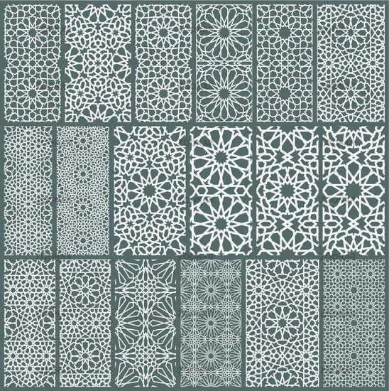 Islamic ornament vector , persian motiff . 3d ramadan islamic round pattern elements . Geometric circular ornamental arabic symbol vector EPS 10