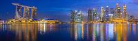 Panorama Singapore Marina bay Downtown