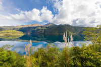 Laguna of Cuicocha and Cotacachi volcan Ecuador