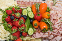 colorful selection with healthy buffet - cold plate