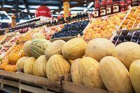 Ripe melons in farmer market: