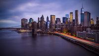 Manhattan Skyline with Brooklyn Bridge