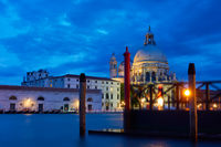 The Grand Canal in Venice at night