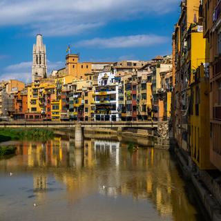 Riverside houses in Girona's Old quarter