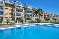 High rise residential multi-storey house closed urbanization with swimming pool, Torrevieja, Spain