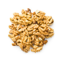 The walnut kernels.