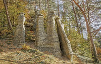 Die Sieben Churfirsten are rocks near Sipplingen at the Lake Constance