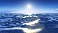 sun over the wild sea