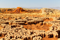 in  danakil ethiopia africa  the volcanic depression