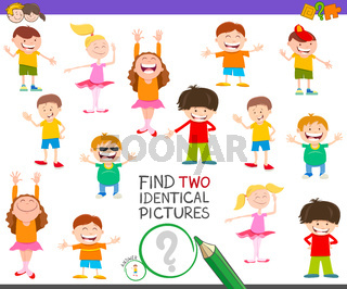 find two identical characters game for children