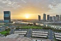 Doha, Qatar during sunset